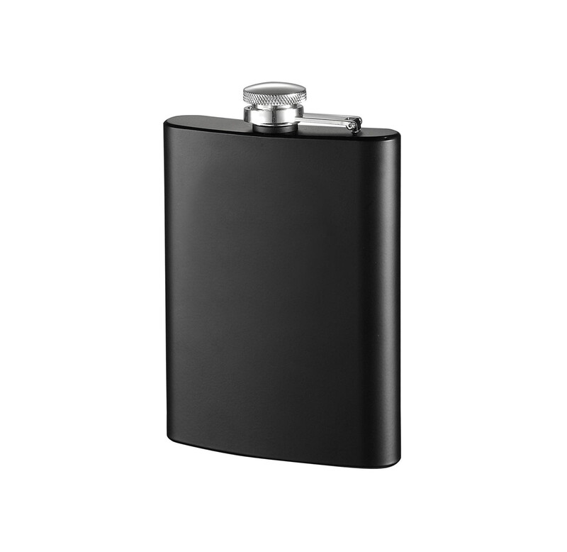 Matte Black Stainless Steel Hip Flask 170ml