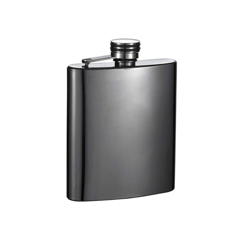 Gun Metal Stainless Steel Hip Flask 170ml