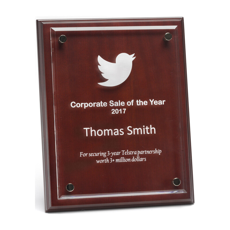 Floating Acrylic and Timber Plaque Award – PAC6, PAC8 & PAC11