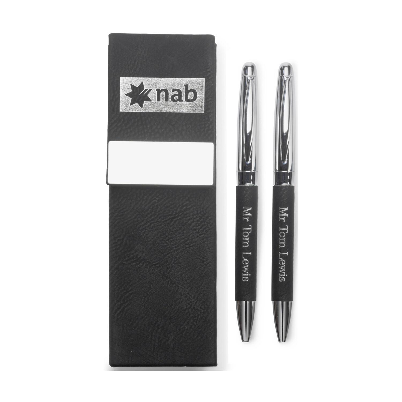 Leatherette Double Pen Set LE427