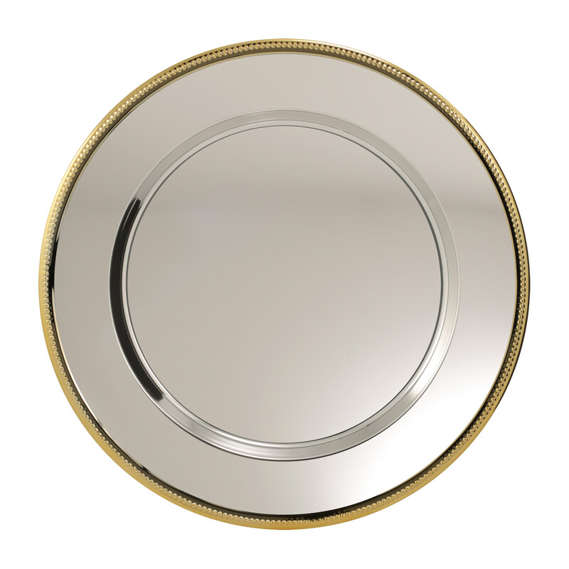 Nickel Plated Tray Gold Edge TRY03