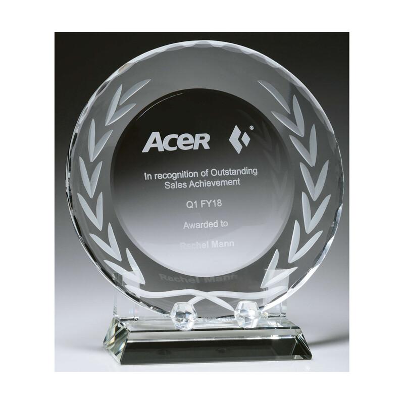 Crystal Tray Award