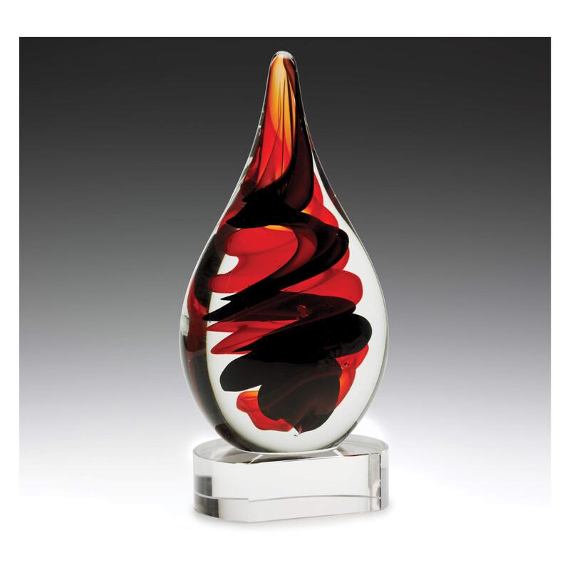 Art Glass Red & Black AG312