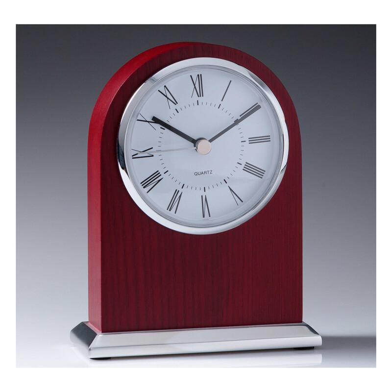 Mahogany Timber Clock CL703  140mm