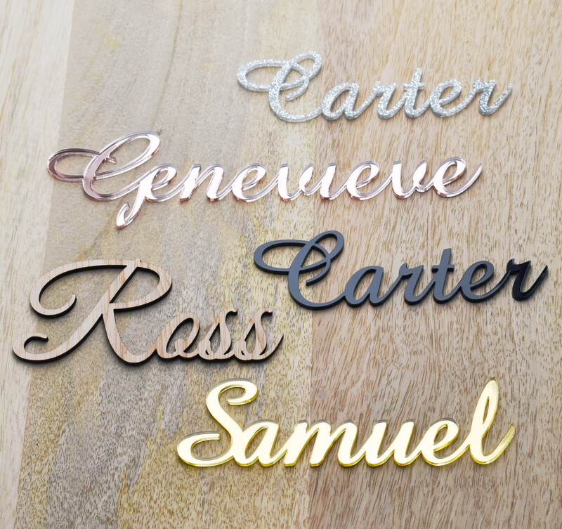 Timber Laser Cut Name Placecards