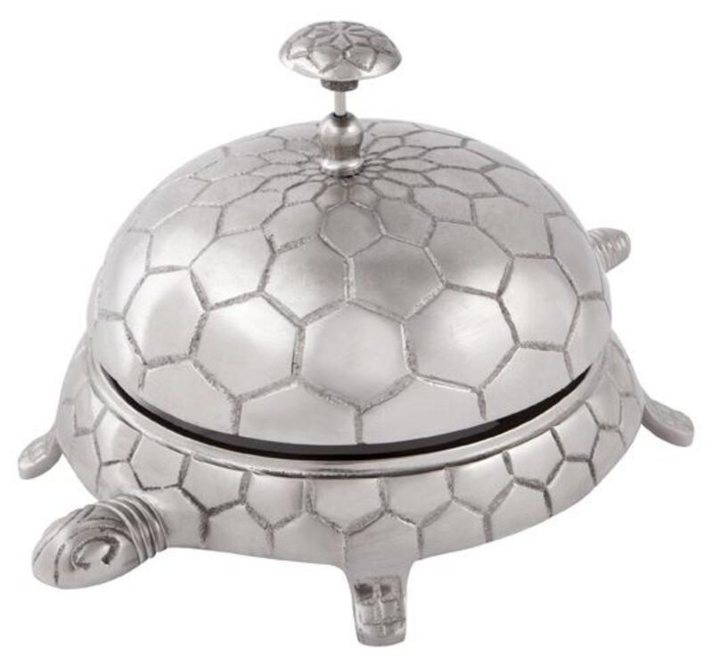 Pewter finished Aluminium Tortoise Bell