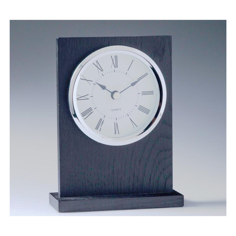 Black Timber, Chrome Trim Clock - CL702