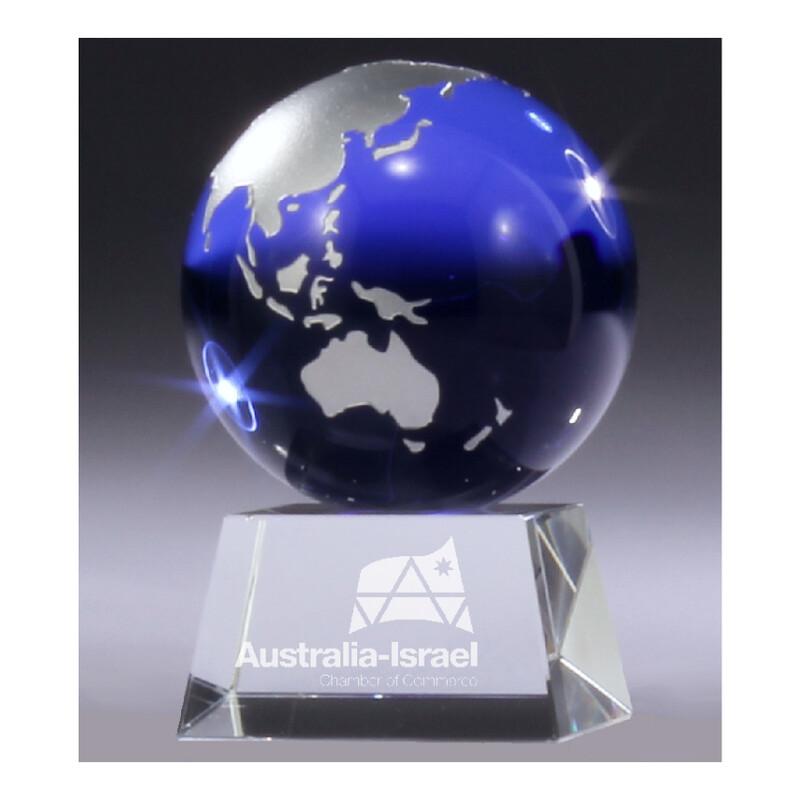 Aqua Mini Crystal Globe