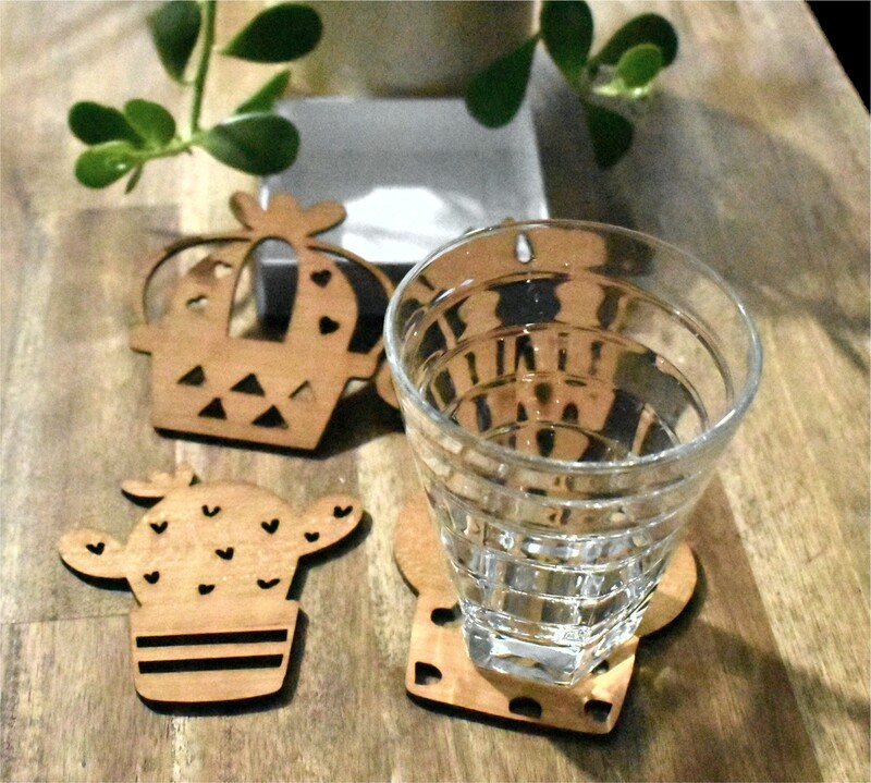 Succulent Timber Coasters