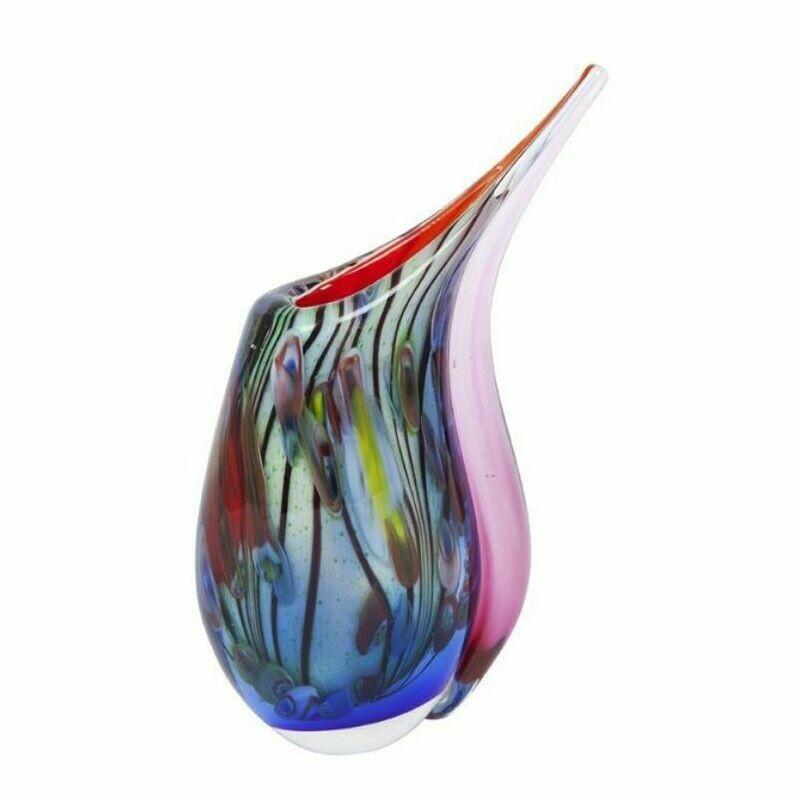 Coloured Glass Xanadu Vase by Zibo