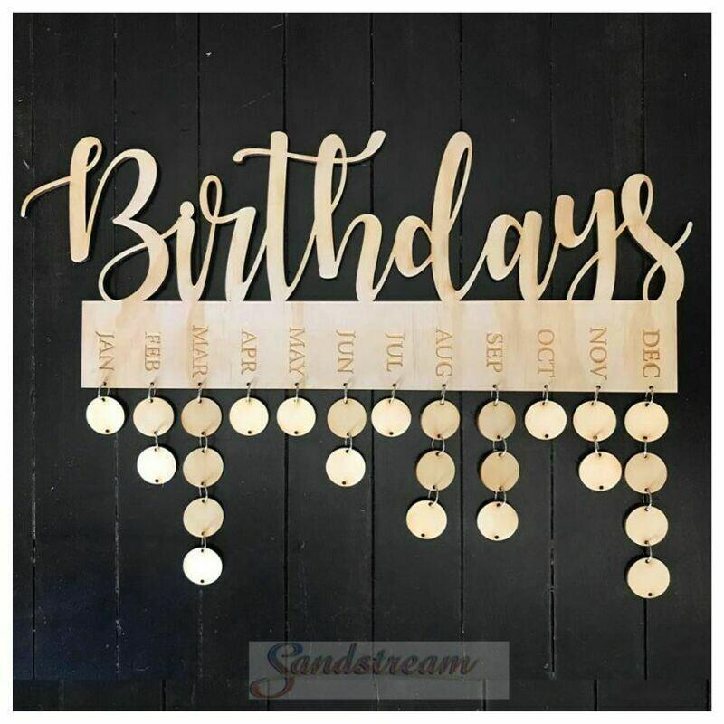 7mm Ply Birthday Calendar