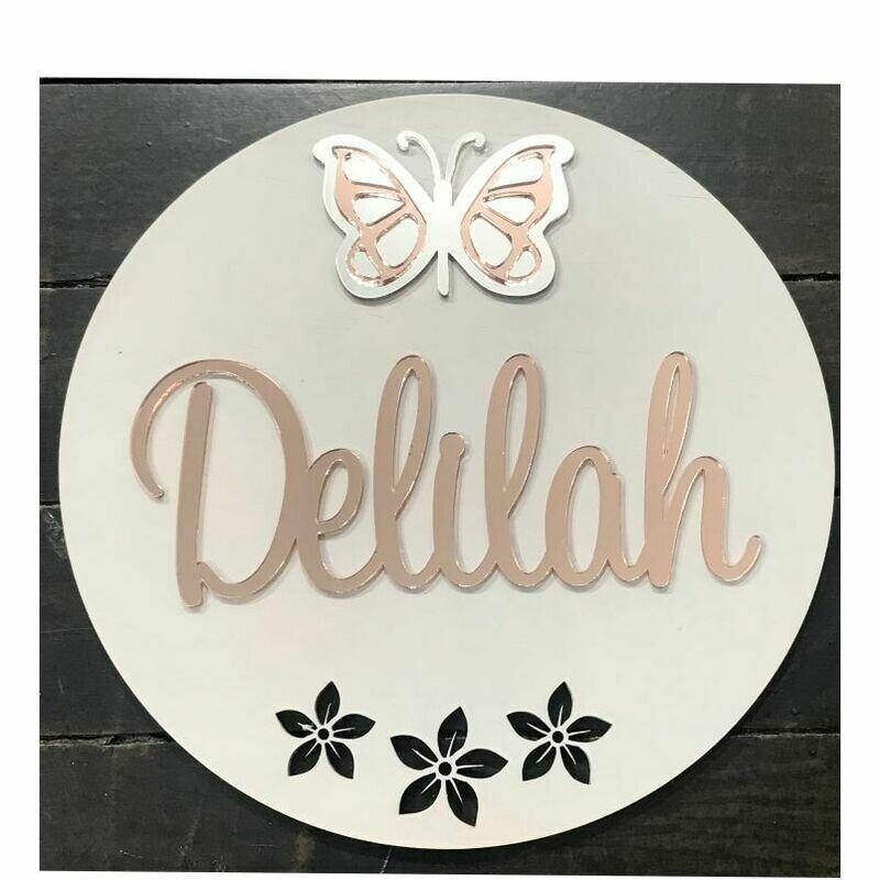 Butterfly Door Sign