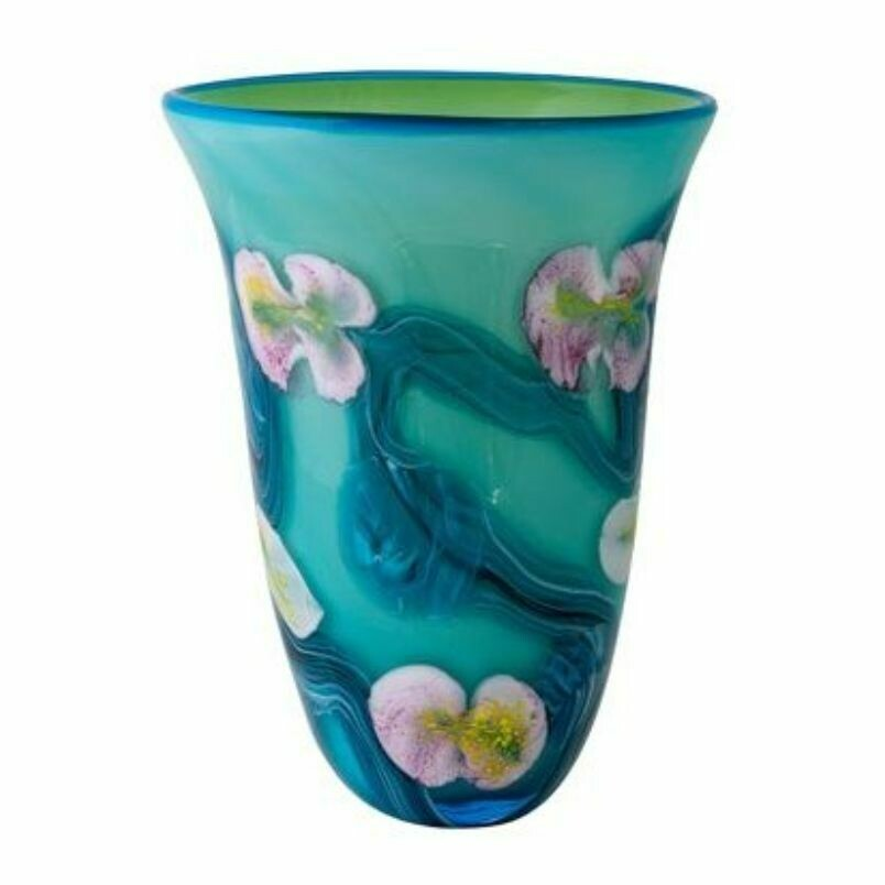 Coloured Glass Gordonia Vase by Zibo
