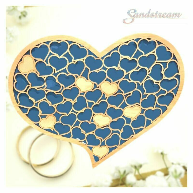 Honeycomb Heart Shaped Guest Book