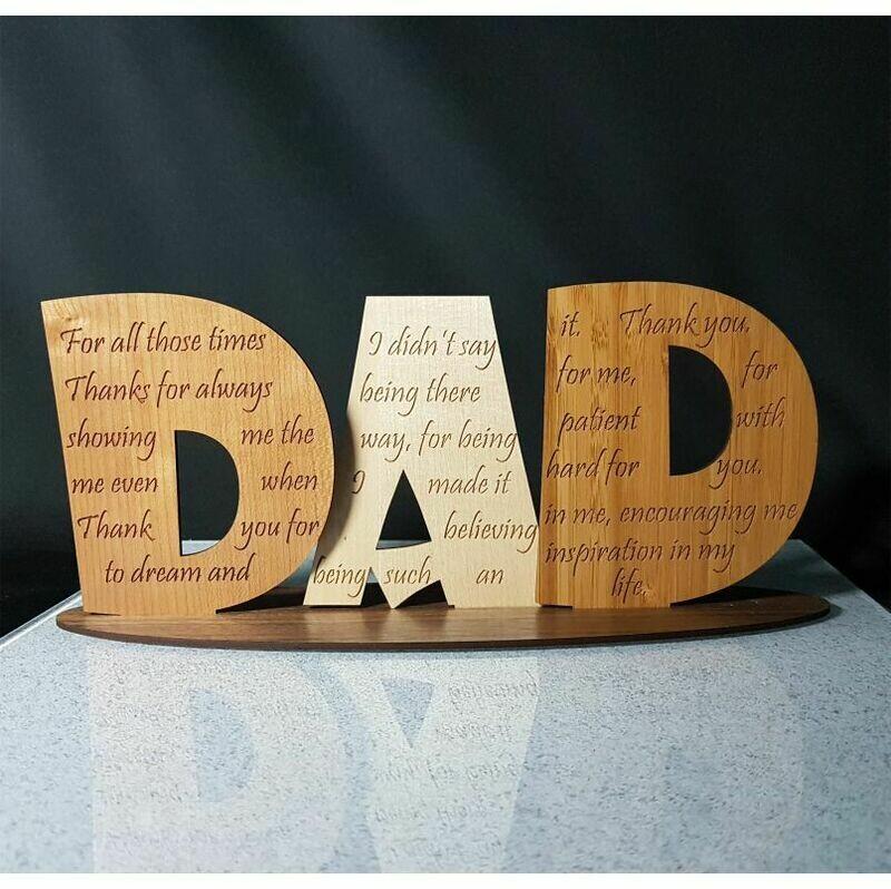 Unique DAD Timber Sign