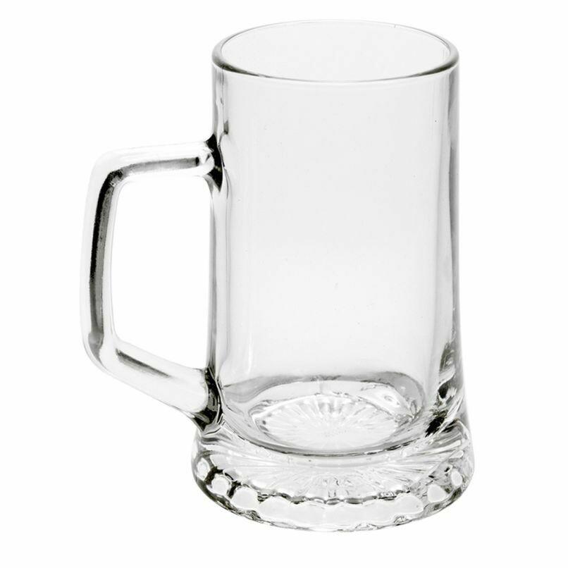Italian Glass Beer Mug 500ml
