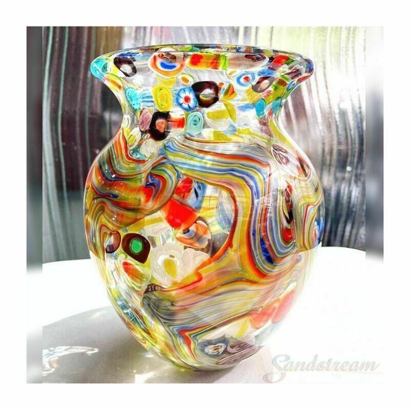 Coloured Glass Fiori Vase by Zibo