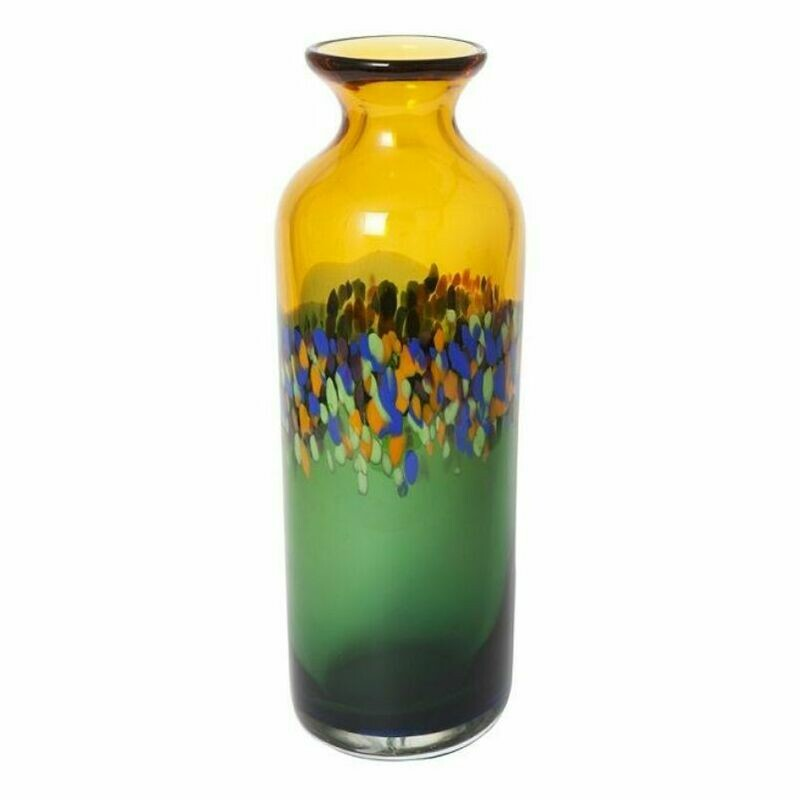 Coloured Glass Vivid Vase by Zibo