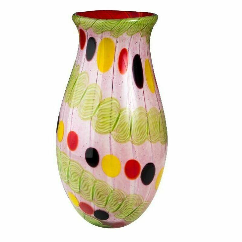 Coloured Glass Jansdotter Vase by Zibo