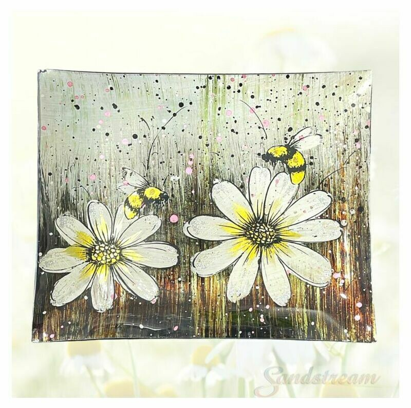 Bumble Bee Glass Plate