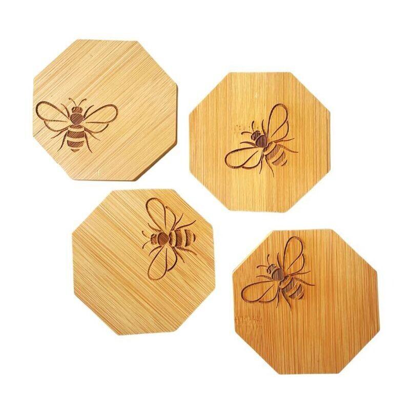 Bee Bamboo Coasters