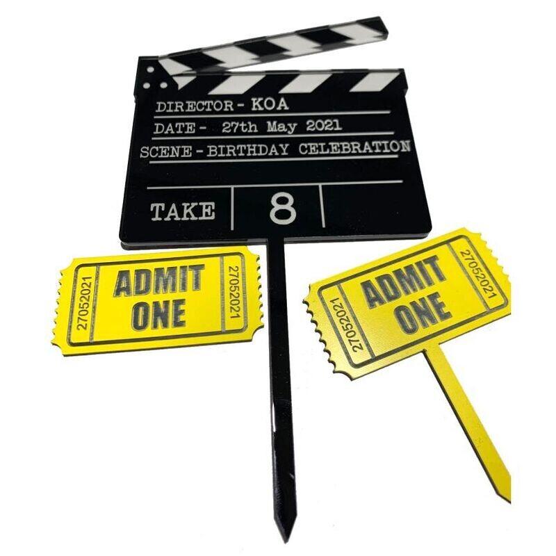 Movie Clapboard Topper