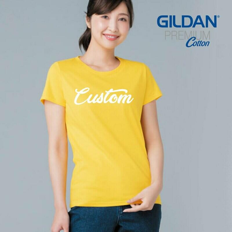 GILDAN PREMIUM COTTON 76000L Ladies T-Shirt DTG Print