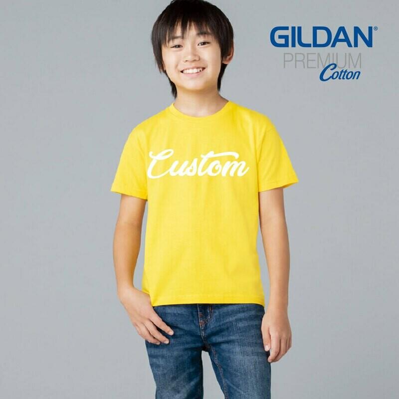 GILDAN PREMIUM COTTON 76000B Youth T-shirt DTG Print