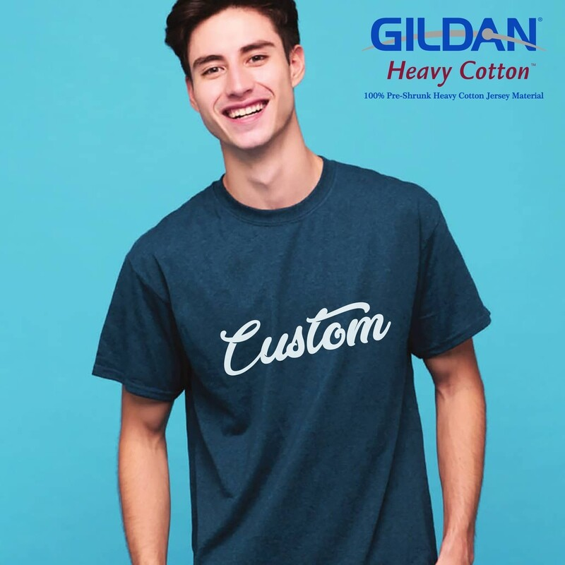GILDAN HEAVY COTTON 5000 Adult T-Shirt DTG Print