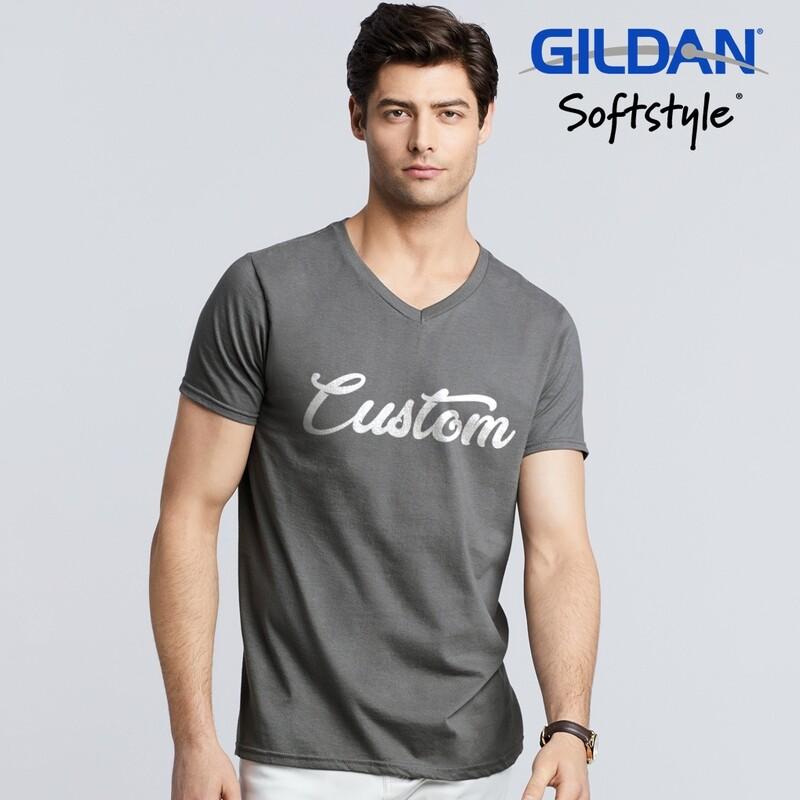 GILDAN SOFTSTYLE 63V00 Adult V-Neck T-shirt DTG Print