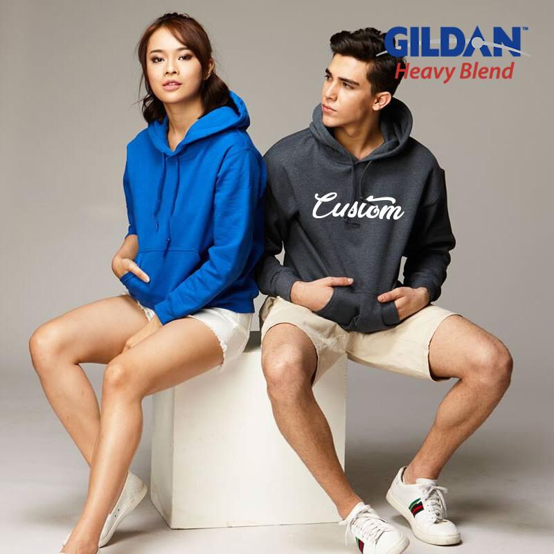GILDAN HEAVY BLEND 88500 Adult Hooded Sweatshirt HD Print