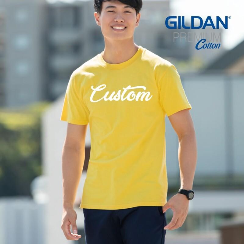 GILDAN PREMIUM COTTON 76000 Adult T-Shirt DTG Print