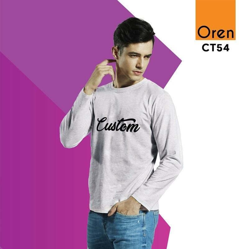 ORENSPORT CT54 Long Sleeve Comfy Cotton DTG Print