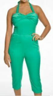 LINDY BOP 'Heloise' Green Jumpsuit