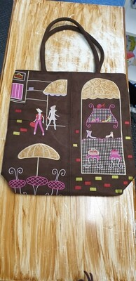 Suede Bag Retro Parisian design