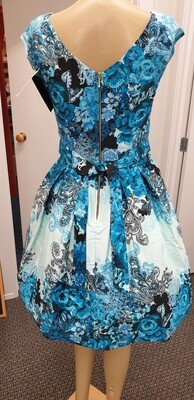 Leila Teal Rose Collage Size 16