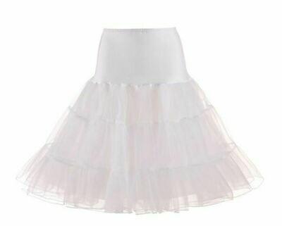 Rockabilly Petticoat White Size XL Waist74 - 130cm