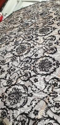 Parasol Fawn, Cream & Black Lace