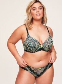 Nare  Contour Animal print Bra & Knickers  Size 40 H Bust 129 - 132cm