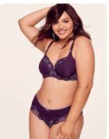 Atiza  Purple  Unlined Bra & Knickers 40G Bust 127cm