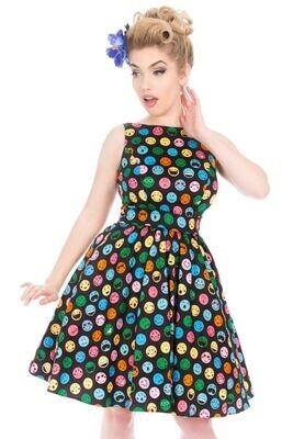 Emoji Polka  Tea Dress Size 14 &  Mask