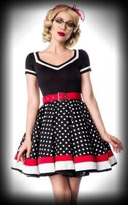 Vintage Polka Dot  Dress + Belt  Size 12