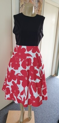Fit & Flare Retro 60's Pin up style Size 16