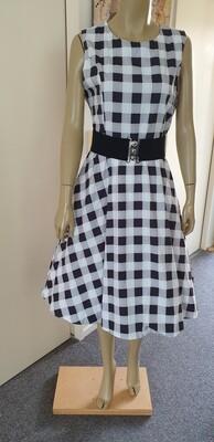 Plaid Belted Retro Vintage Dress Size 16