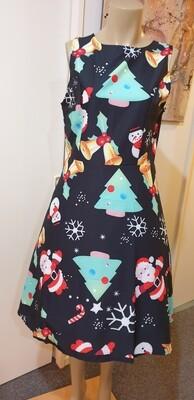 Xmas  Santa  Fit & Flare Retro Dress Size 14