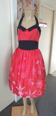 Xmas Red Icicles Halter Audrey Hepburn  Dress Size 16