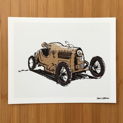 Trike Sketch Print
