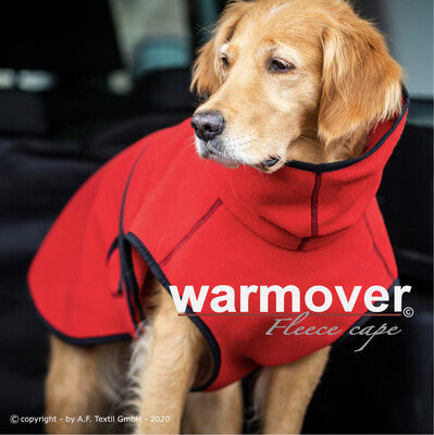 WARMOVER FLEECE CAPE - RED FIRE