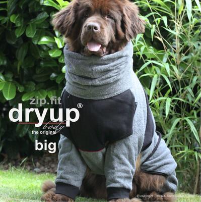 DryUp ZIP FIT BIG Hundebademantel - Anthrazit