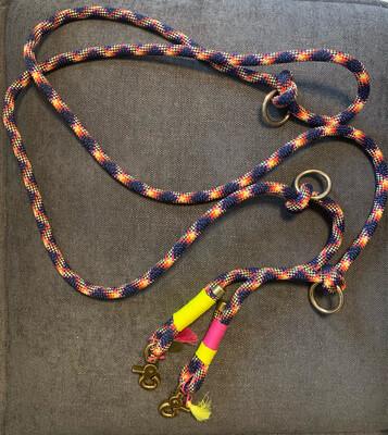 Hundeleine aus PPM-Premium Seil 10mm - Blue Angel 3m